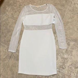 Dresses & Skirts - New with tags white see through club dress- small